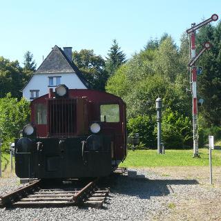 Alter Bahnhof von Schalkenmehren
