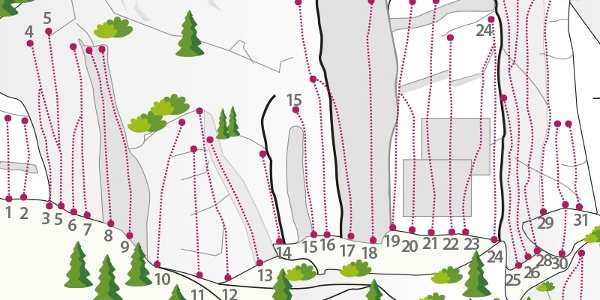 Klettergarten Oetz Hauptsektor