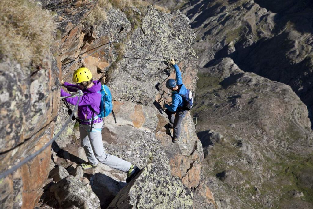 Klettersteig Villach : Neuer klettersteig auf den schlossberg krone at