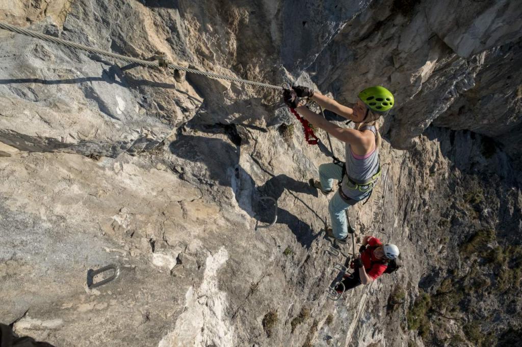 Klettersteig Villach : Bergsport klettern villach faakersee sport oesterreich at
