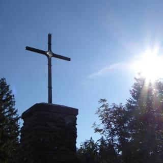 Morgenstimmung am Gipfel Großer Falkenstein