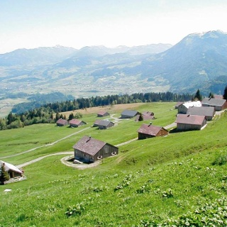 Vorsäß Klausberg Bergpanorama