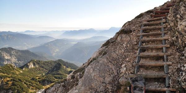 Teil des Klettersteigs