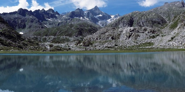 Cornisello lakes and view on the Presanella peak