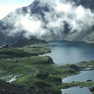 Uitzicht op de Wangenitzsee vanaf de Perschitzschneid