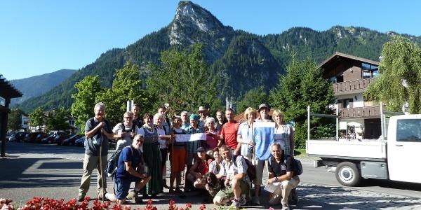 Pilgergruppe startet in Oberammergau