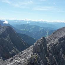 Blick vom Mitterhorn zum Breithorn(rechts)
