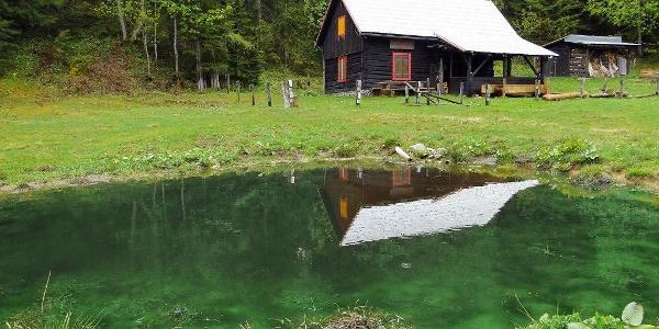 Alpenrose Schutzhaus des ÖTK mit idyllischem Biotop