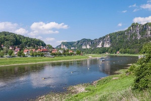 Foto Elbe bei Rathen