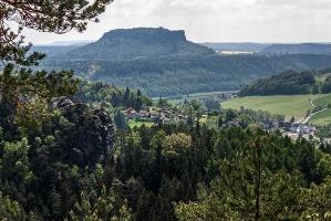 Foto ... und auch noch ein Blick zum Lilienstein ... einfach herrlich hier!