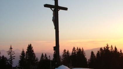 Gipfelkreuz am Schwarzenberg.