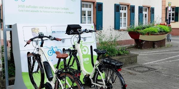 E-Bike ladestation Rheindürkheim