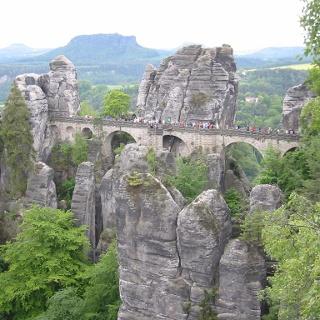 Die Basteibrücke.