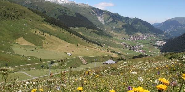 Aussicht von Milez ins Tal