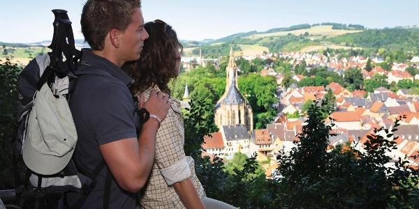 Blick vom Aussichtspunkt Juchhe.