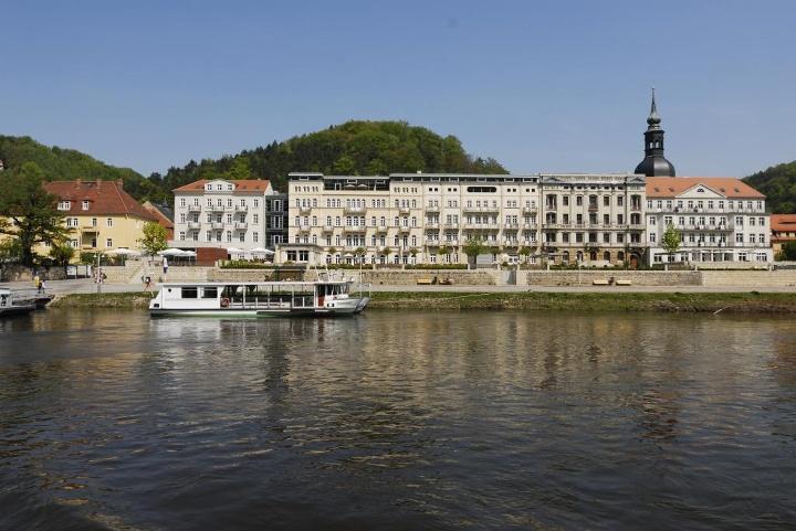 Foto Bad Schandau an der Elbe.