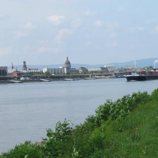 Die Skyline von Mainz