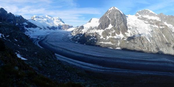 Blick vom Col des Otanes auf den Gletscher Corbassière