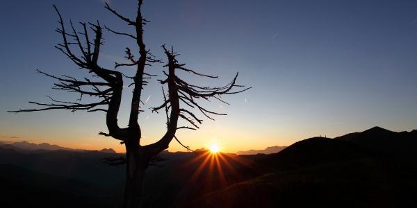 Sonnenuntergang auf der Loosbühelalm