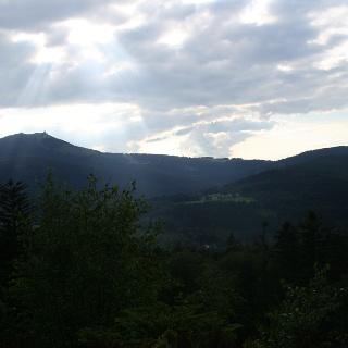 Ausblick vom Hochfels zum Großen Arber