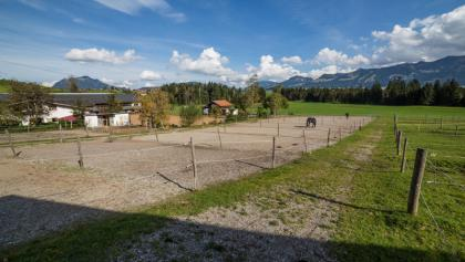 Die Paddocks der Reitanlage in Muderbolz