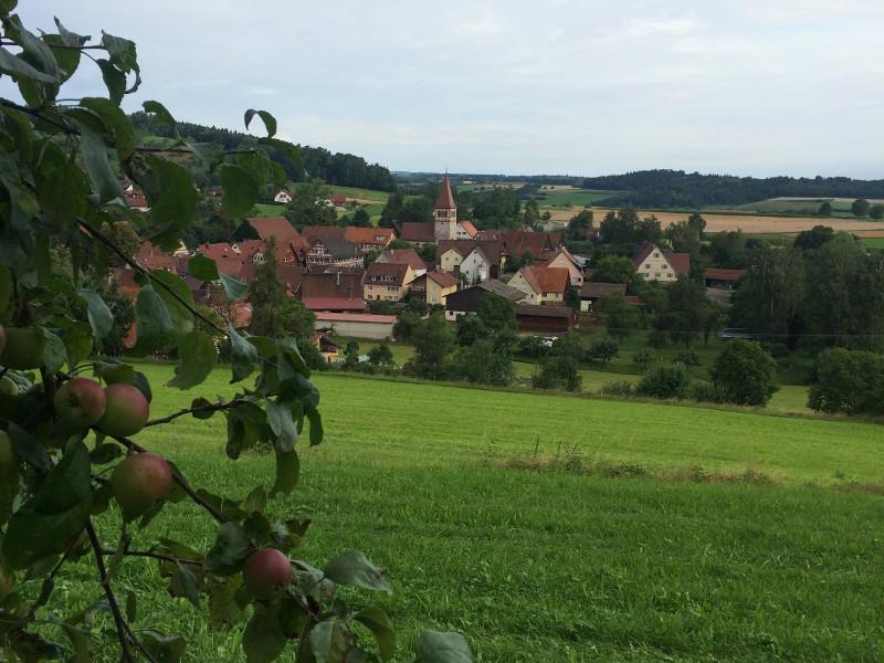 Blick auf Geifertshofen  - @ Autor: Silke Rüdinger  - © Quelle: Hohenlohe + Schwäbisch Hall Tourismus e.V.