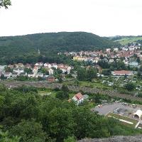 Blick vom Backofenfelsen auf die Hoffnungsburg