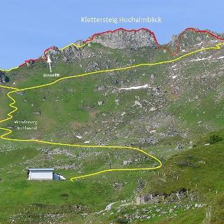Klettersteig Hochalmblick Topo