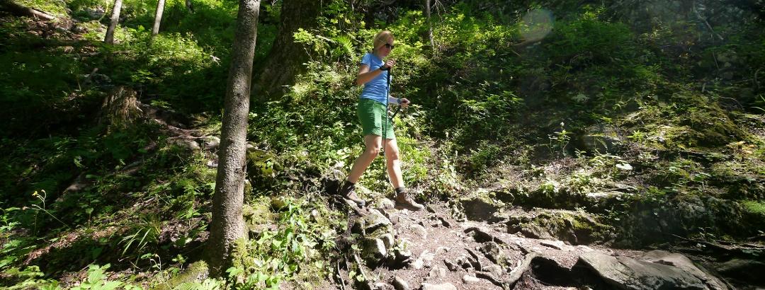Steiler Abstieg vom Falkenstein