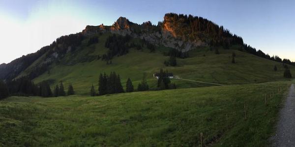 Blick Richtung Beslerkopf und Schönbergalpe