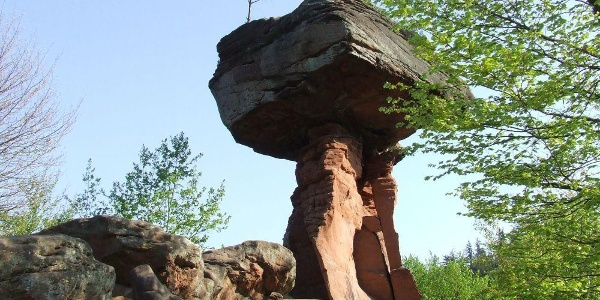 Der Teufelstisch einziges Geotop in der Pfalz