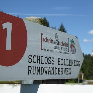 Das Schloss Hollenegg ist der höchste Punkt, der Weg ist das Ziel.