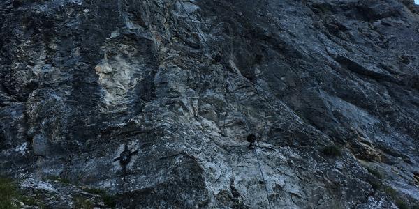 Einstieg Klettersteig