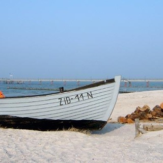 Fischerboot in Zingst