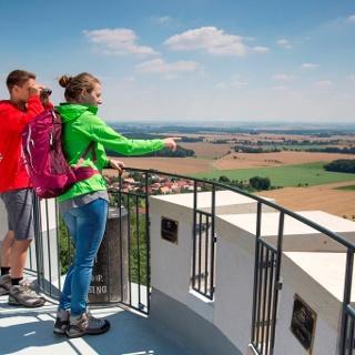 Aussicht vom Albertturm auf dem Collmberg