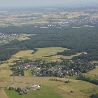 Todenfeld, Merzbach und Rheinbach aus der Luft
