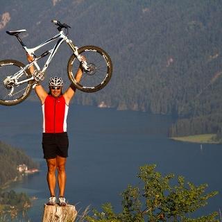 Mountainbiken auf die Alm