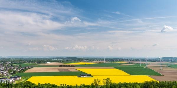 Weitblick über die Felder