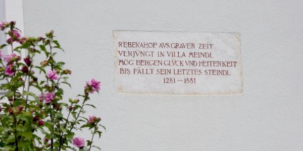 Der Rebekkahof in der Kirchengasse 12.