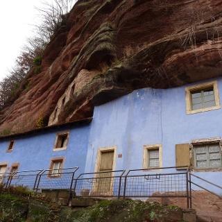Die Felsenhäuser in Graufthal.