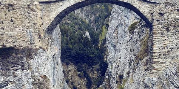 """""""Hohe Brücke"""" between Leuk and Erschmatt"""