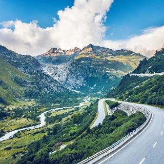 Furka road near to Gletsch