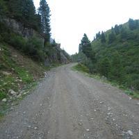 Erstes Steilstück nach der Fotscher Skihütte