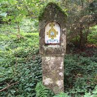 Säule mit Wappen des Hl. Bluts Weingarten