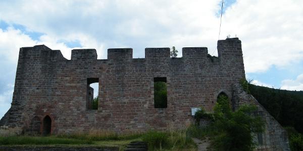 Die Wolfsburg wurde vermutlich zum Schutz des Talweges von Neustadt nach Kaiserslautern erbaut.