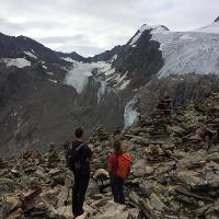 Am Beiljoch/Peiljoch mit tollen Ausblick auf die Gletscherwelt rund um Freiger, Paff und Zuckerhütl