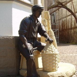 Die Korbmacher-Figur