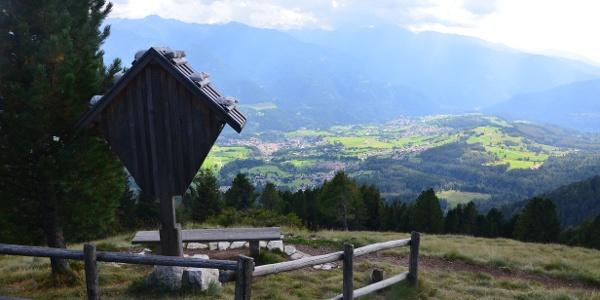 La vista sulla Val di Fiemme