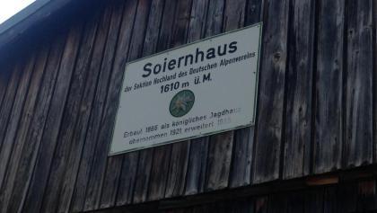 Oberes Soiernhaus Plakette
