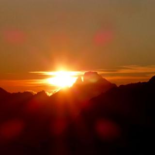 Sonnenuntergang am Pic du Midi de Ossou